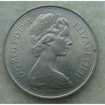 1081 - Inglaterra 1968, 10 New Pence Elizabeth 28mm - Niquel