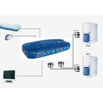 Chaveador Kvm Controla 4 Micros1mouse 1teclado 1 Monitor Ps2