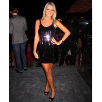 Vestido De Paetes Planet Girls Tam G Veste M