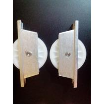 Kit 2 Roldanas De Nylon 70 Mm Com Caixa Para Portões