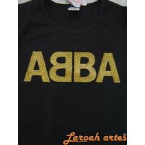 Camisetas Abba Banda Grupo Anos 70 80 Dourado Lana Camisetas