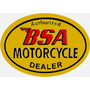 6098- Placa Decorativa Moto Motorcycle Bsa