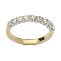 Meia-aliança Em Ouro Amarelo 18 Quilates +diamantes !!