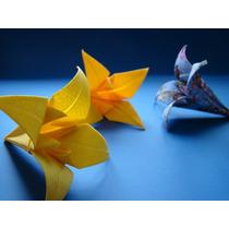 Flor De Iris (lírio) Origami - 50 Unidades