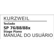 Manual Sp 76/88/88x Kurzweil