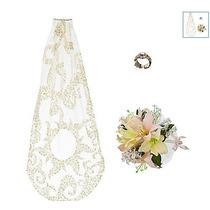 Kit Veu / Alianca E Bouquet Disney Rapunzel Enrolados Noiva