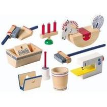 Miniaturas - Casa De Bonecas - Máquina Costura - Escovão Etc