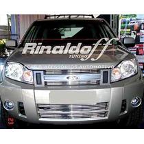 Sobregrade Ecosport 2008 2010 Aço Inox 4 Peças Frete Gratis