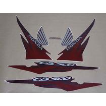 Kit Adesivos Honda Cb500 2001 Vinho - Decalx