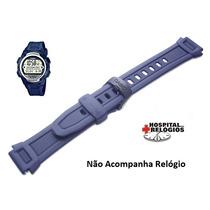 Pulseira Original Casio W-756 Azul Borracha Tabuá Maré