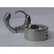Brinco Masculino Argola Articulada6mm Par Aço Inox Cor:prata