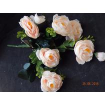 Buque De Mini Rosa Artificial 6 Flores 30cm - Consulte Frete