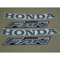 Kit Adesivos Honda Cg Fan 125 2008 Preta - Decalx