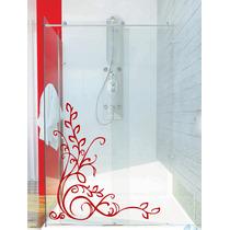 Adesivo Decorativo Parede Porta Banheiro Box Floral Flor