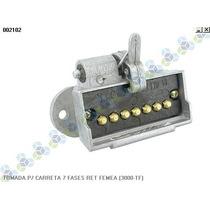 Tomada P/ Carreta 7 Fases Retangular Femea (3000-tf)