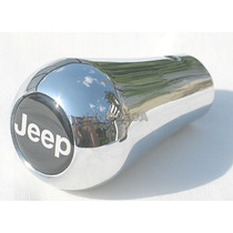 Manopla De Câmbio Cromada Jeep Willys Jipe 4x4 Cherokee