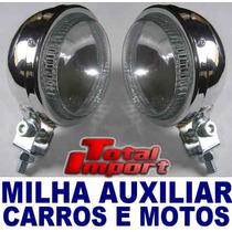 Farol De Milha Auxiliar Carros E Motos (show) Tuning Xenon