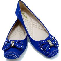 Sapato Feminino Sapatilha Couro Inverno Moda Rasteirinha