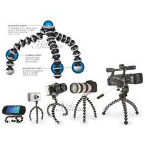 Mini Tripe Articulado Flexível Universal Câmera E Filmadora