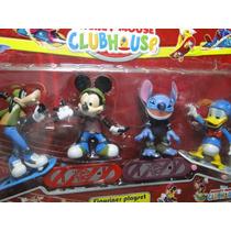 04 Bonecos Skate Mickey Lilo House Festa Aniversario Bolo