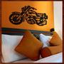 Quadro Decorativo Escultura De Parede Mdf Moto Recorte