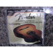 Encordoamento Cordas Fender Para Violão Nylon - Frete Gratis