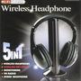 Fone De Ouvido Wireless Sem Fio 5x1 C/ Fm Dvd Skype Tv Msn