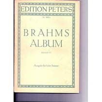 Livro 4 Brahms Lieder Band Lv Edition Peters Nr. 3692 A 47