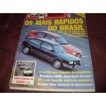 Quatro Rodas 347 Gol Gti X Kadett Gs Teste 1989 Revista