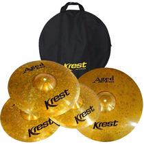 Kit Pratos Krest - Aged Brass - Abset3 - 14 + 16 + 20 + Bag