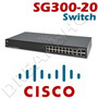 Switch Cisco 20 Portas Giga 10/100/1000 Srw2016-k9 Sg300-20