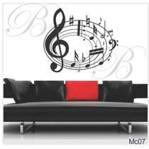 Adesivo Papel Parede Decorativo Notas Musicais Frete Grátis