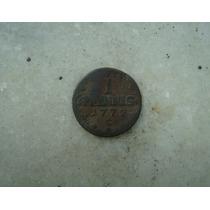 7038 Alemanha 1 Pfennig 1773 - C , Saxônia - Cobre 19mm