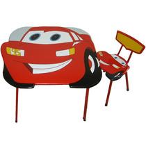 Mesa Infantil Do Relâmpago Mcqueen Com Cadeira