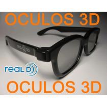 Kit Com 4 Óculos 3d Passivo Real D Polarizado P/ Tv Cinema3d