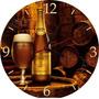 Relógio De Parede Em Vinil Cerveja Bohemia Personalizados