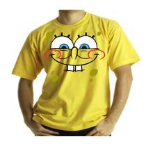 Camiseta Adulto Ou Infantil Bob Esponja Fominha