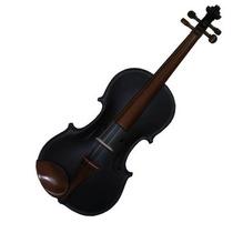 Violino Rolim 4/4 Artesanal Preto Fosco.