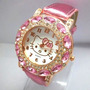 Relógio De Pulso Hello Kitty Com Strass E Pedrinhas