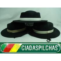 G Chapéu Preto Infantil Mod. Campeiro Aba 5,5cm