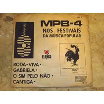 Compacto Duplo Mpb-4 - Nos Festivais (1967) Selo Elenco