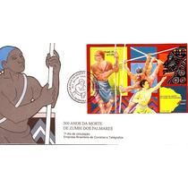 Zumbi Dos Palmares-300 Anos-fdc Oficial Com Bloco 102 E Cbc