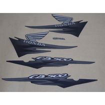 Kit Adesivos Honda Cb500 2002 Preta - Decalx