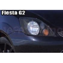 Kit Aplique Farol Mascara Negra Vinil Ford Fiesta G2