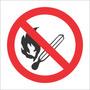 Placa Proibido Produzir Chamas