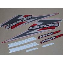 Kit Adesivos Honda Nxr150 Ks Bros 2006 Vermelha - Decalx