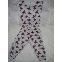 Pijama Manga Longa Homem Aranha 100% Algodão Tamanho 2 Lindo