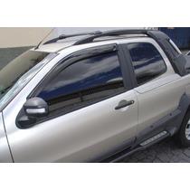 Fiat Palio E Strada Jogo Calha Chuva Defletor Tg Poli 24002