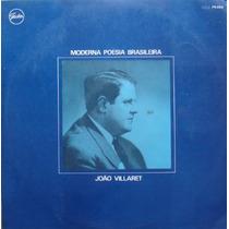 João Villaret Lp Moderna Poesia Brasileira 1969 Mono Festa