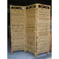 Biombo 3 Partes Bambú